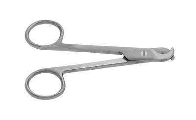 4.5in White Toe Nail Scissors