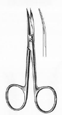 4.75in - Curved Wagner Scissors