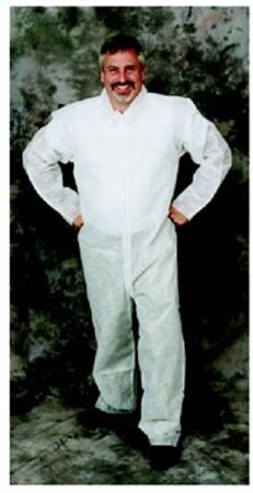 Ultra-safe coverall with open cuffs  ankles