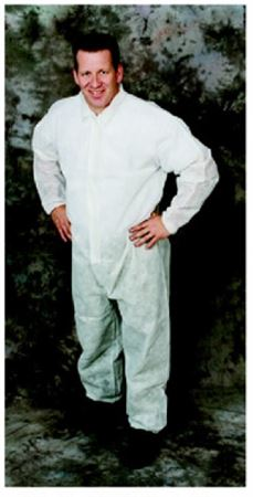 Ultra-safe sms coverall elastic wrists & ankles