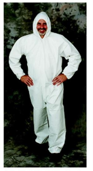 Sms coverall with pulled hood- elastic wrists & ankles