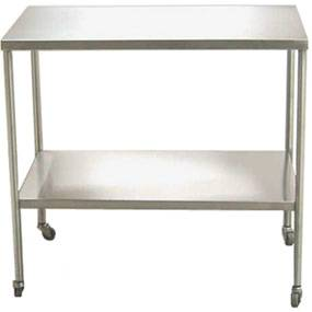 48in Stainless Steel Instrument Table w/ Bottom Shelf