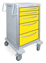 5 Drawer Extra Tall Lightweight Aluminum Isolation Cart