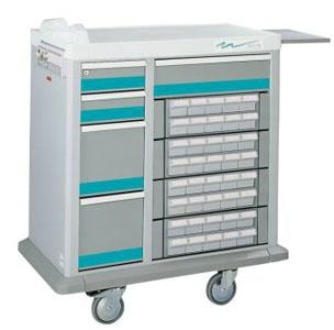 5 Drawer Full Sized 40 Bin Medication Cart