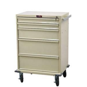 5-Drawer Medical Treatment Cart w/ Key Lock