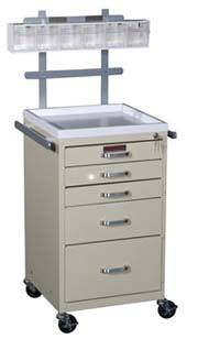 5 Drawer Mini Anesthesia Cart Specialty Package