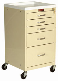 5 Drawer Mini Anesthesia Cart Standard Package