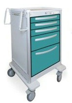 5 Drawer Slim Medium Lightweight Aluminum Treatment Cart