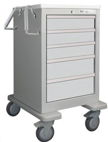 5 Drawer Slim Mini Economy Cart