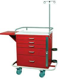 5 Drawer Emergency Cart Package