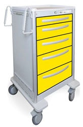 5 Drawer Slim Tall Lightweight Aluminum Isolation Cart