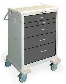 5 Drawer Tall Steel Treatment Cart