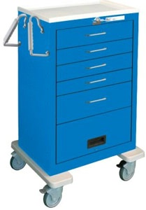 5 Drawer w/ Flip Panel Steel Crash Cart