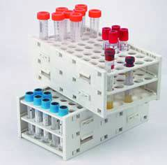 50-Place Combo Laboratory Expandable T-Rack