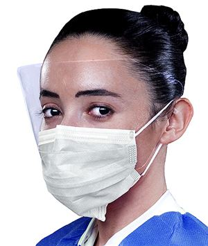 Archaway double seal ear-loop mask with face shield