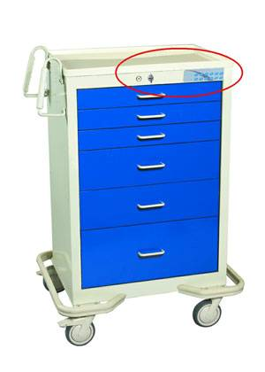 6 Drawer Aluminum Mobile Workstation Electronic Lock