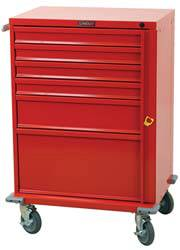 6-Drawer Emergency Crash Cart w/ Breakaway Lock