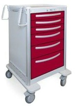 6 Drawer Extra Tall Lightweight Aluminum Treatment Cart