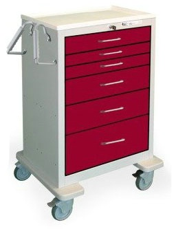 6 Drawer Extra Tall Steel Treatment Cart