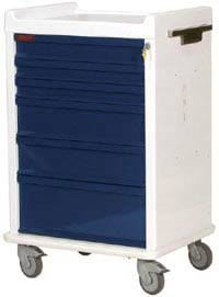 6 Drawer MR Safe Anesthesia Cart