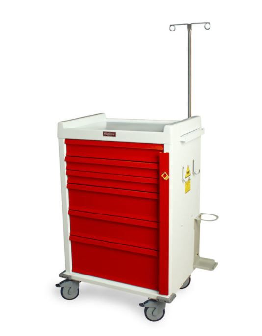 6 Drawer MRI-Safe Emergency Cart Specialty Package