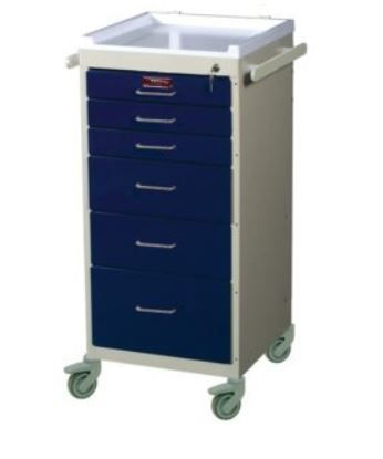 6 Drawer Mini Anesthesia Cart Standard Package