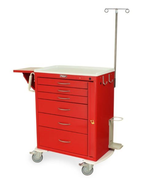 6 Drawer Tall Emergency Crash Cart Emergency Package