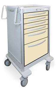 6 Drawer Tall Lightweight Aluminum Bedside/Slim Cart