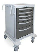 6 Drawer Tall Lightweight Aluminum Treatment Cart