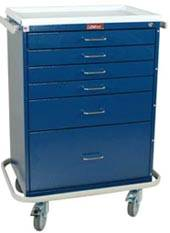 6 Drawer Anesthesia Workstation Key Lock Package