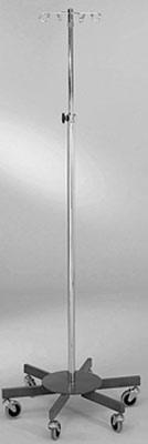 6-Leg IV Stand, 4 hooks