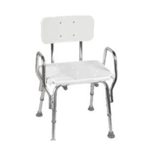 Shower Chair With Molded Seat and Arms w/ Backrest
