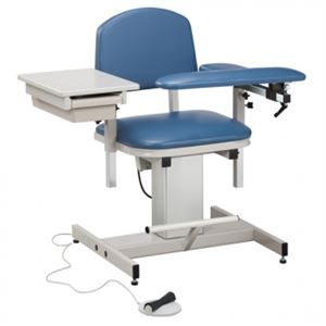 Power Blood Drawing Chair w/ Padded Flip Arm and Drawer