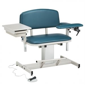 Bariatric Power Blood Drawing Chair Padded Arm  Drawer