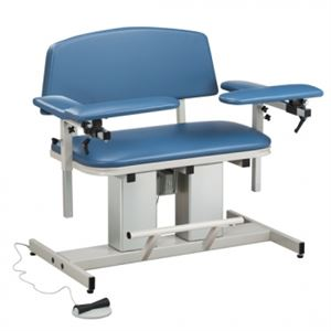 35in Wide Bariatric Power Blood Drawing Chair w/ Padded Arms