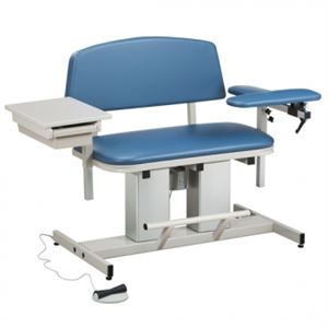 35in Wide Bariatric Power Blood Drawing Chair Drawer