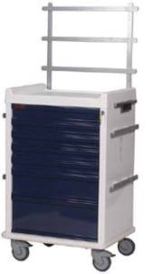 7 Drawer MR-Safe Anesthesia Cart Specialty Package