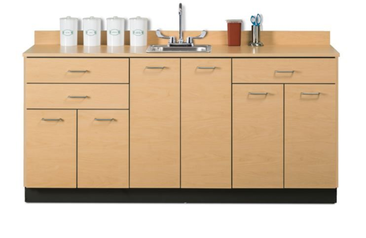 72in Base Cabinet w/ 6 Doors and 3 Drawers