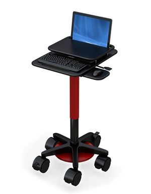 Height Adjustable Laptop Cart w/ Swappable Power Supply