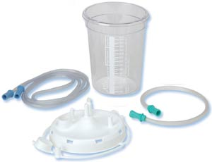 800cc Suction Canister (Filter Lid) with Tubing