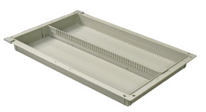 2in Gray Tray with 1 Long Divider