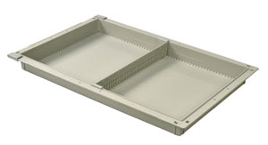 2in Gray Tray with 1 Short Divider