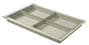 2in Gray Tray with 1 Long and 1 Short Dividers