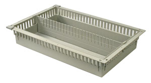 4in Gray Tray with 1 Long Divider
