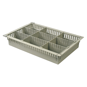 4in Gray Tray with 2 Long and 2 Short Dividers