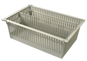 8in Gray Tray with 1 Long Divider