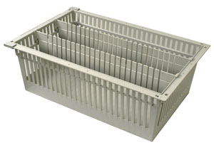 8in Gray Tray with 2 Long Dividers