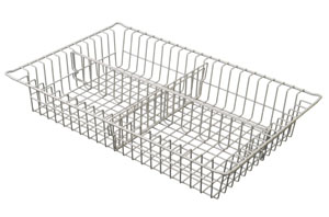3in Wired Basket with 1 long, 1 short divider