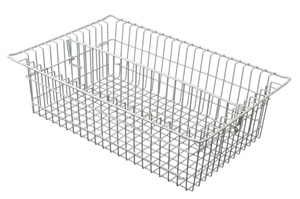 8in Wired Basket with 1 long divider