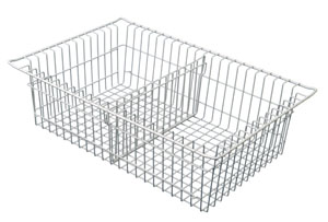 8in Wired Basket with 1 short divider